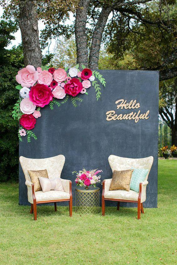 photobooth mariage fleur papier decoration tendance 2019