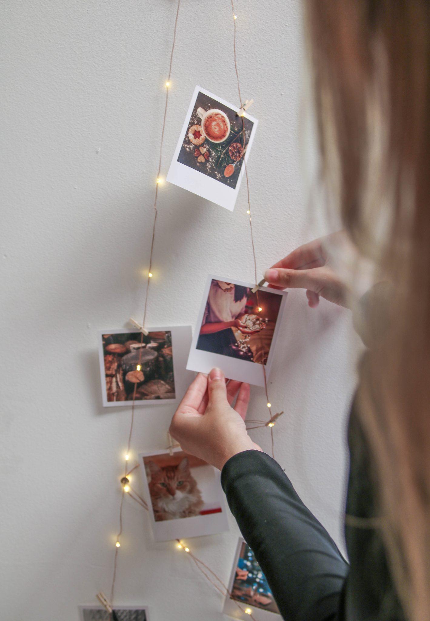 tuto noel diy sapin photos lumineux décoration