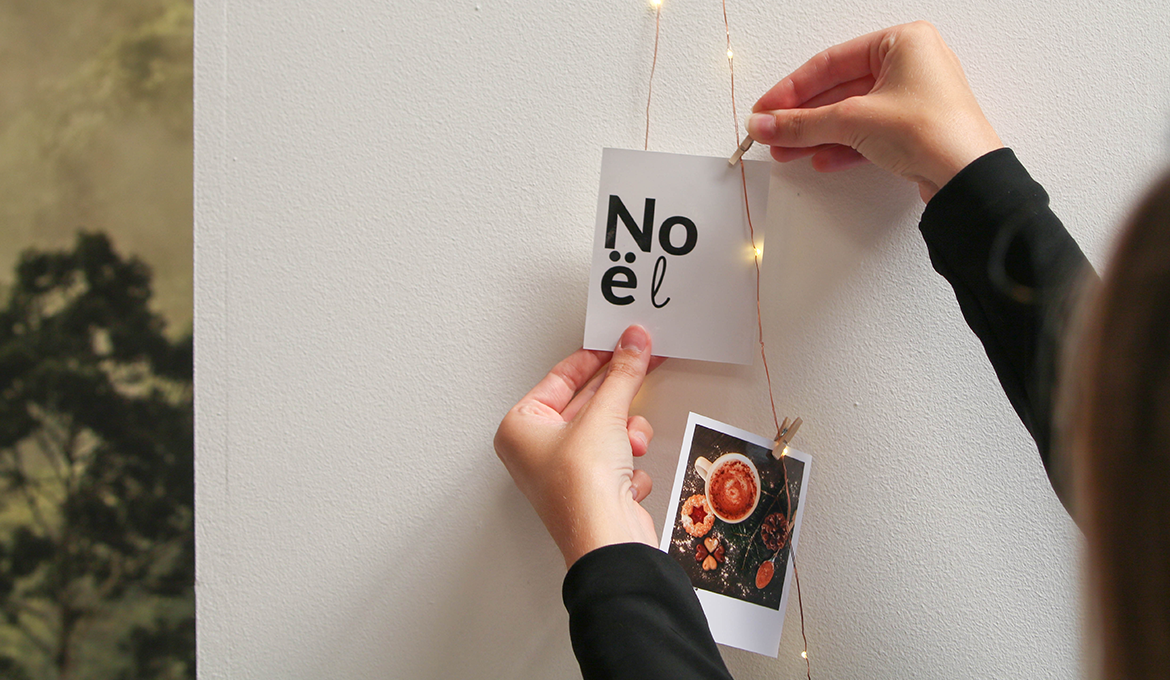 DIY sapin de Noël avec les photos CHEERZ